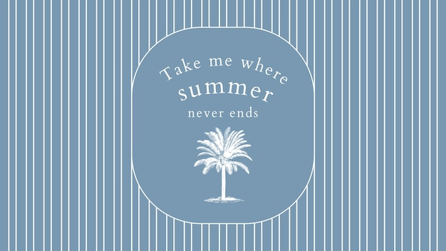 Modelo de banner editável de verão em tom azul