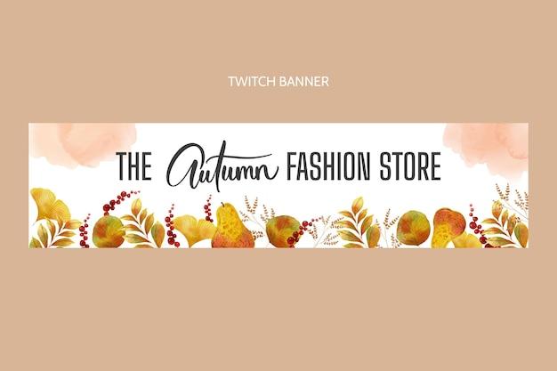 Modelo de banner em aquarela de outono