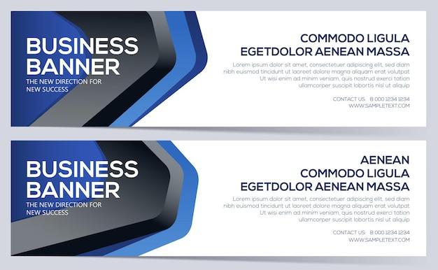 Modelo de banner empresarial banners empresariais podem ser usados para o cabeçalho do site layout de design elegante