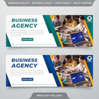 Modelo de banner empresarial minimalista estilo premium