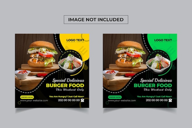 Modelo de banner especial de mídia social burger