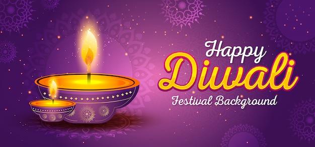 Modelo de banner festival de diwali