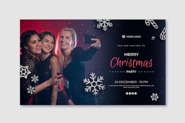 Modelo de banner festivo de natal