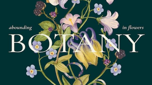 Modelo de banner floral colorido em lindo estilo vintage