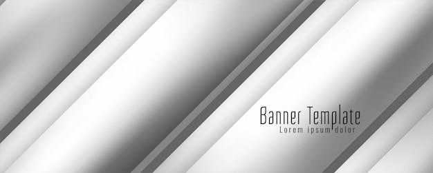 Modelo de banner geoemtrico de banner moderno elegante