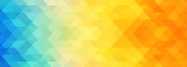 Modelo de banner geométrico colorido abstrato