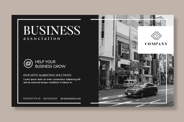 Modelo de banner geral de negócios