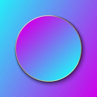 Modelo de banner gradiente colorido