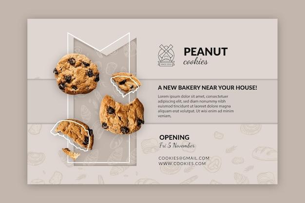 Modelo de banner horizontal de cookies