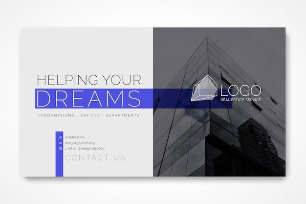 Modelo de banner horizontal para negócios