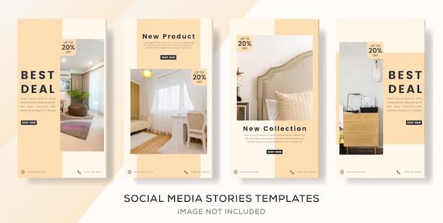 Modelo de banner interior minimalista para post de histórias de mídia social. prêmio