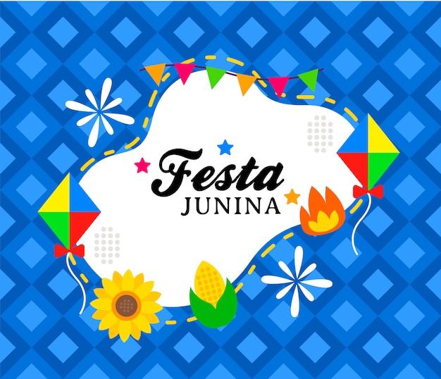 Modelo de banner junina feliz festa
