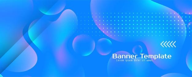 Modelo de banner moderno de fluxo líquido colorido elegante