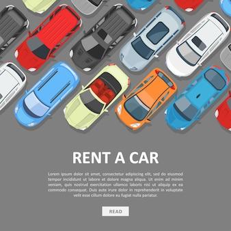 Modelo de banner para alugar um carro