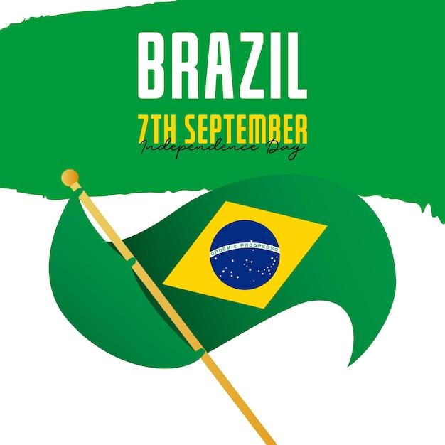Modelo de banner para as celebrações do dia da independência da bandeira do brasil