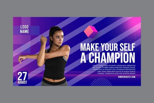 Modelo de banner para atividade de fitness