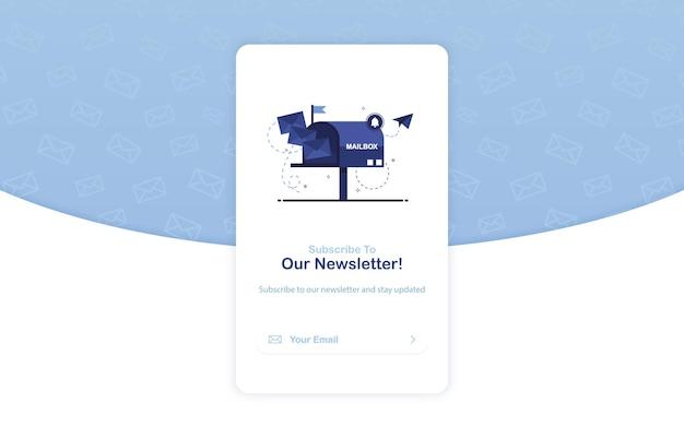 Modelo de banner pop-up de assinatura de boletim informativo