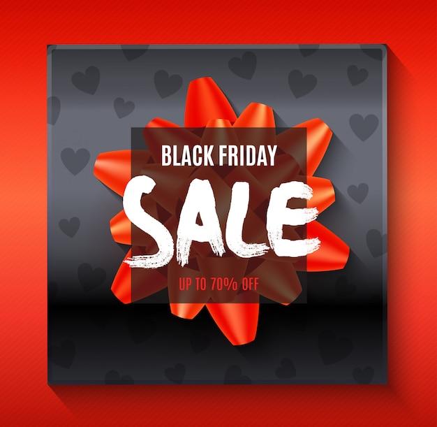 Modelo de banner preto grande venda sexta-feira com elementos abstratos