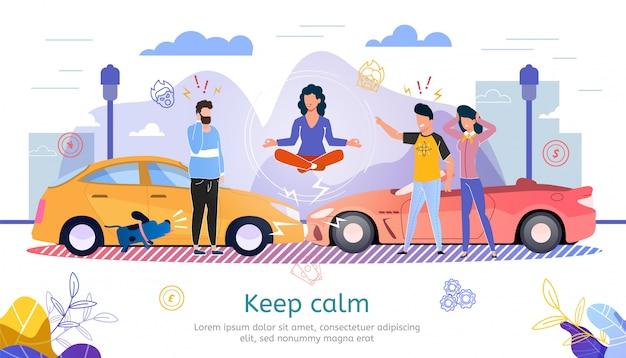 Modelo de banner promocional plana de seguro de carro