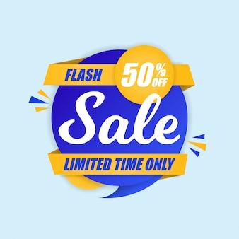 Modelo de banner quadrado de design de venda flash