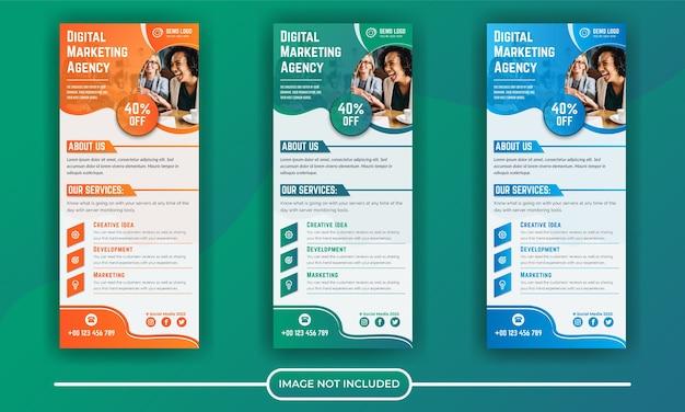 Modelo de banner roll up corporativo de marketing digital