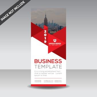 Modelo de banner roll up de negócios