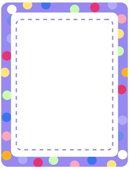 Modelo de banner vazio com moldura colorida