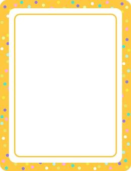 Modelo de banner vazio com moldura vertical laranja