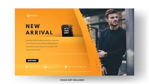 Modelo de banner. vendas de moda masculina