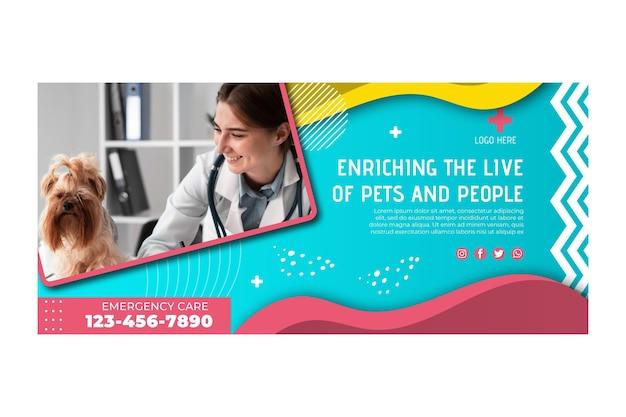 Modelo de banner veterinário