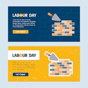 Modelo de banner web do dia do trabalho