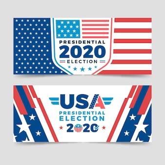 Modelo de banners da eleição presidencial dos eua em 2020