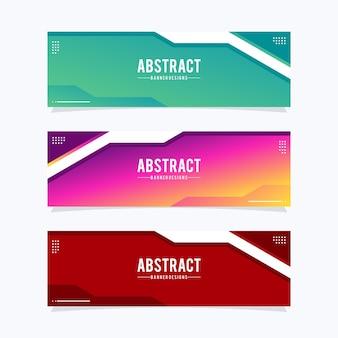 Modelo de banners da web moderno. design universal para empresas de publicidade