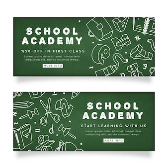 Modelo de banners de academia escolar