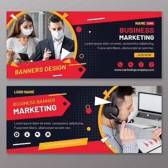 Modelo de banners de marketing