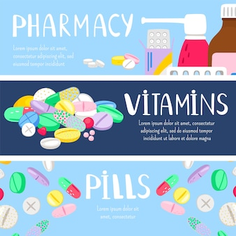 Modelo de banners de medicamentos