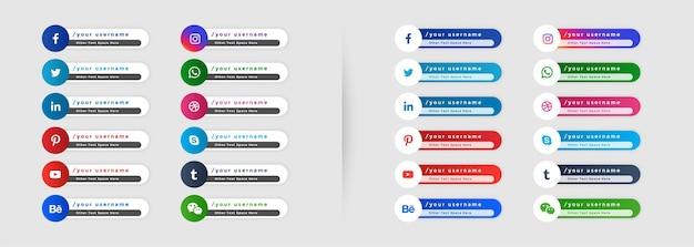 Modelo de banners de mídia social no terço inferior