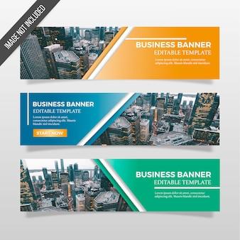 Modelo de banners de negócios
