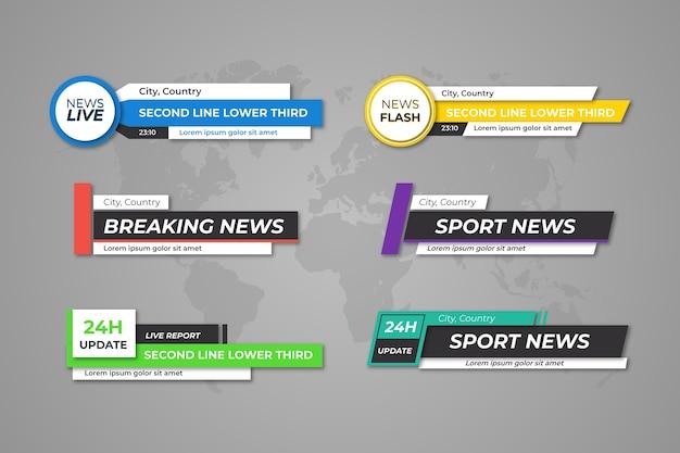 Modelo de banners de notícias de última hora