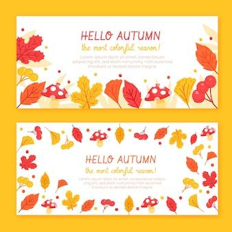 Modelo de banners de outono