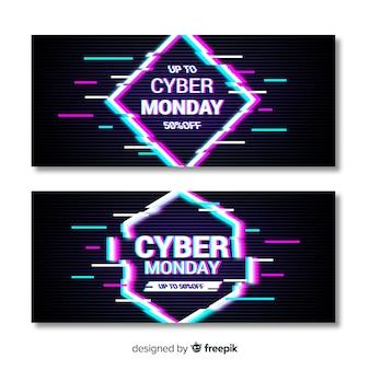 Modelo de banners de segunda-feira cyber falha