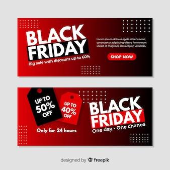 Modelo de banners de sexta-feira negra gradiente