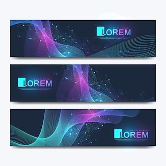 Modelo de banners de sites modernos
