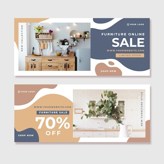 Modelo de banners de venda de móveis