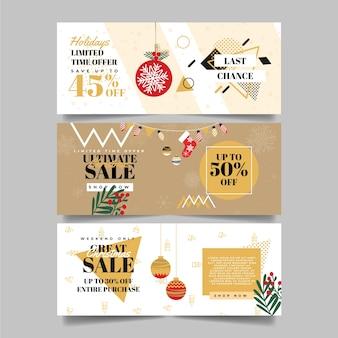 Modelo de banners de venda de natal