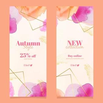 Modelo de banners de venda de outono