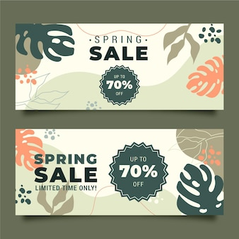 Modelo de banners de venda de primavera
