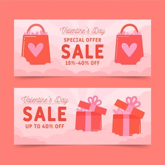 Modelo de banners de venda do dia dos namorados