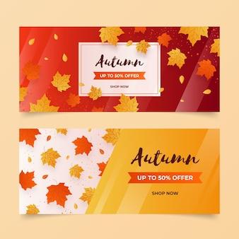 Modelo de banners de venda outono