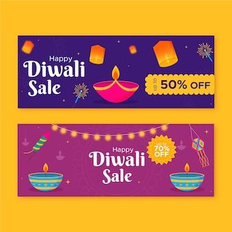 Modelo de banners diwali